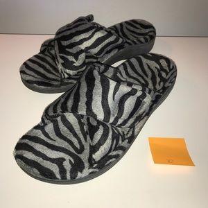 Vionic Relax Slippers w/ Orthotic Arch Grey Zebra